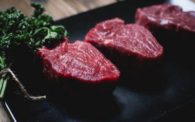 Preparing some steaks for dinner