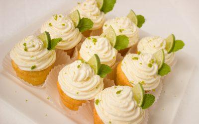 Caipirinha muffins cake cream lime mint
