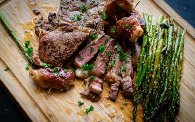 Steak asparagus