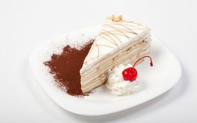 White chocolate coffee cake