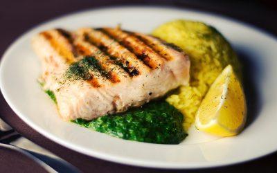 Roasted salmon lemon