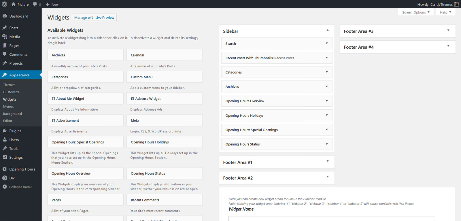 how to add table in divi