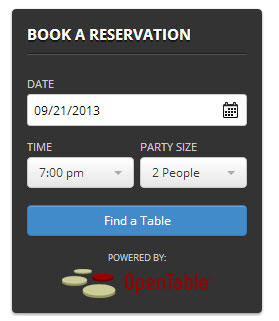 Open Table Widget Adds Powerful Open Table Reservation Forms To Your - Oen table