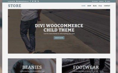 Store is available now, a Divi ecommerce child theme