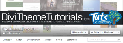 Visit Divi Theme Tutorials Facebook Group