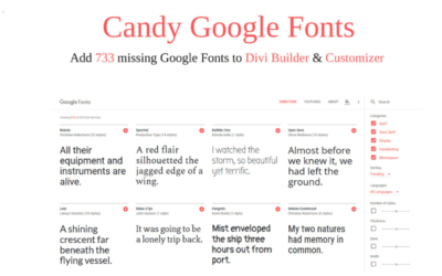 Add all missing Google Fonts to the Divi Customizer and modules