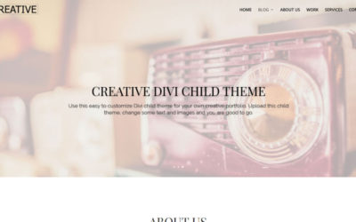 A versatile Divi child theme for Creative people