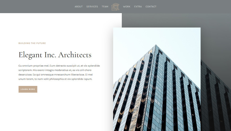Architecture Firm a stylish new Divi Child Theme can be used to create a website for architects and engineers