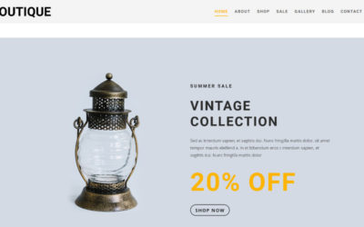 Boutique child theme makes your webshop stand out thanks to its slick, modern and vintage design