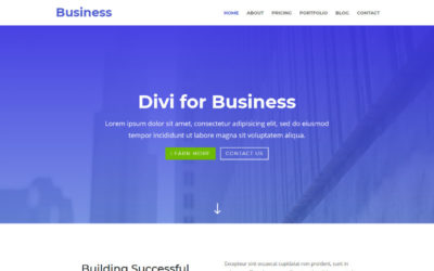 A very clean free Business layout designed by Elegant Themes with support for Projects custom post type