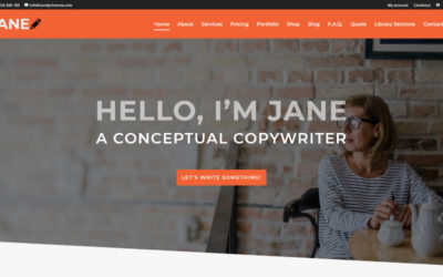 Copywriter a free Elegant Themes layout turned into a Divi child theme is available for download now