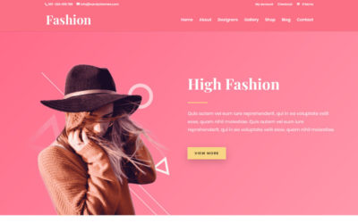 Open your own Fashion store with this Divi child theme created from an exclusive Elegant Themes layout pack