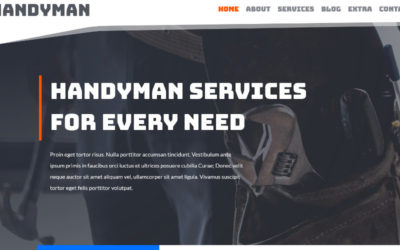 The Handyman Divi Child Theme is perfect for small businesses that want to set up a website that matches the industry they're in
