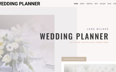 Wedding Planner Divi child theme allows you to create an elegant website while getting the best out of Divi's built-in options