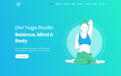 With this Yoga Divi child theme you can showcase your own yoga classes and accept member registrations