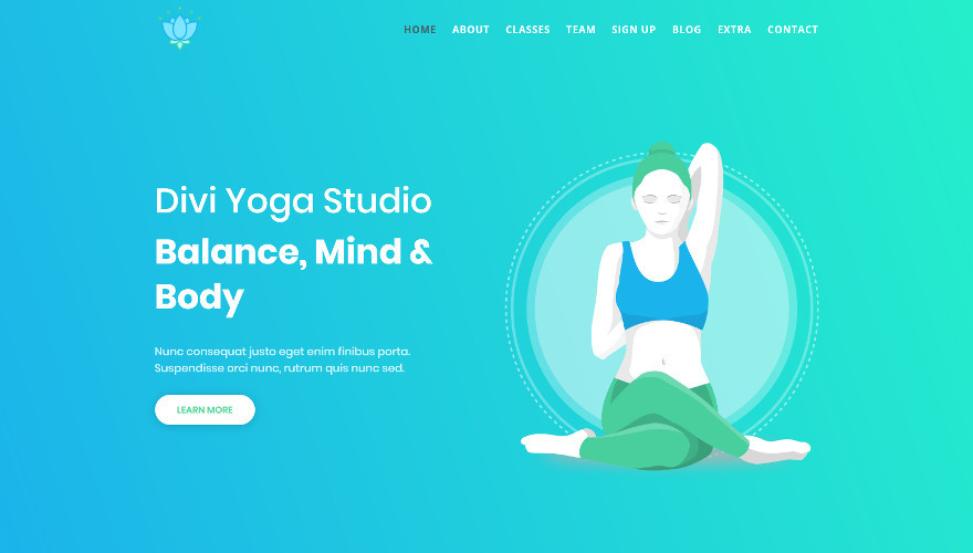 With This Yoga Divi Child Theme You Can Showcase Your Own Yoga Classes And Accept Member Registrations Candy Themes
