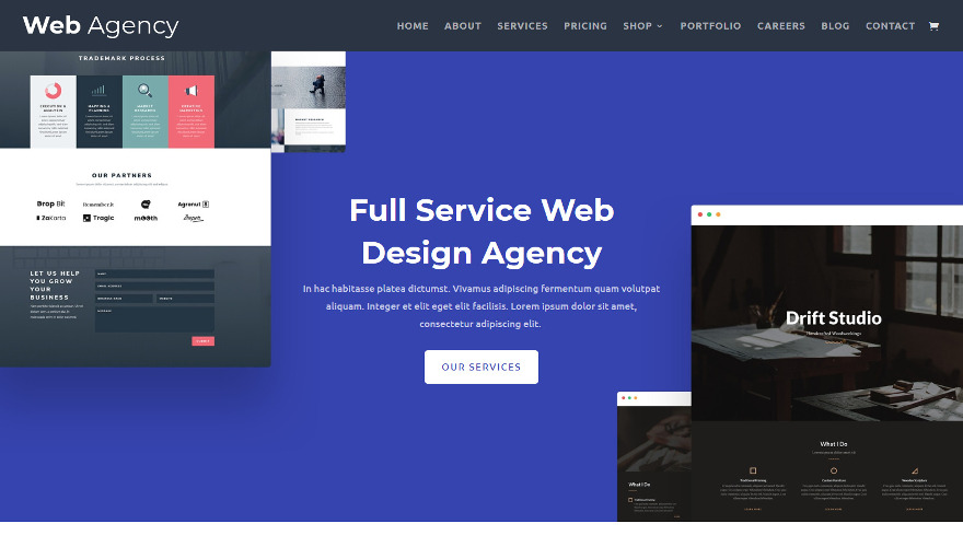 If you ever wanted to start your own Web Agency this bright Divi child theme might be all you'll need