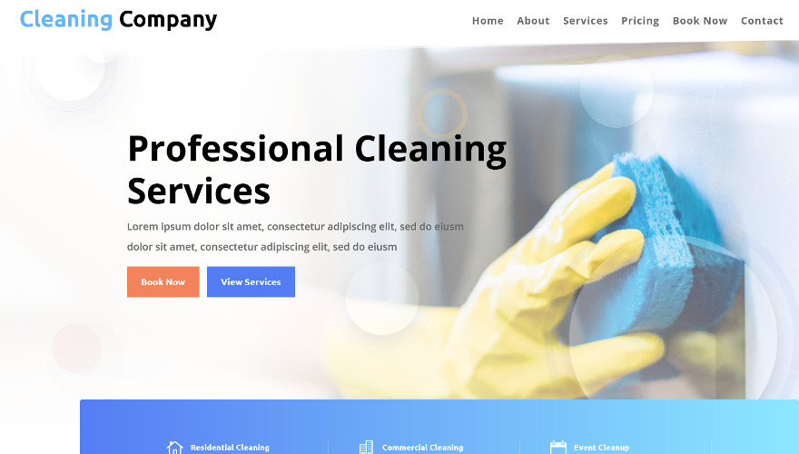 Cleaning Company, a fresh and clean Divi child theme ready for download today