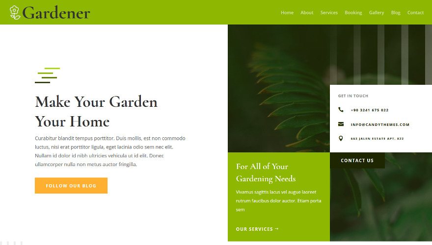 With Gardener Divi child theme, you'll be able to get a beautiful gardener website up and running instantaneously