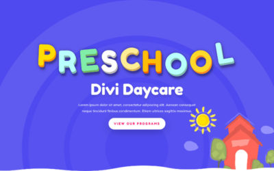 ET-Day Care divi child theme, a perfect blend of professionalism and playfulness that every day care website needs