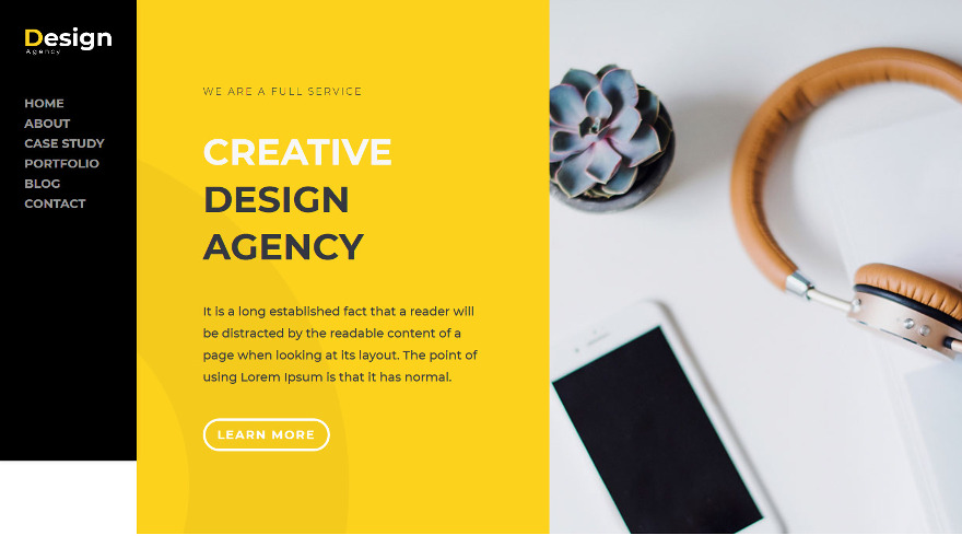 ET-Design Agency a new modern Divi child theme to showcase your design projects