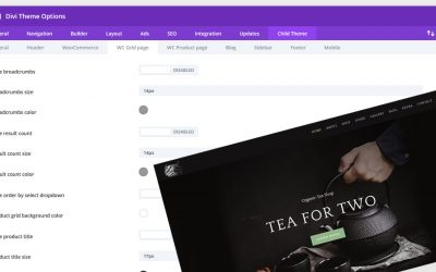 ET-Tea shop updated, new custom child themes options panel added